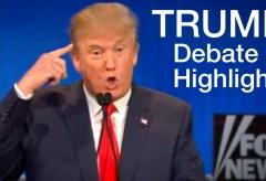 Featured Vid #152 – Donald Trump Debate Highlights (Lowlights)