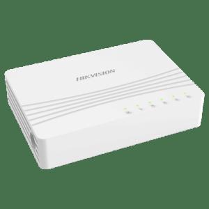 Interruttore da tavolo Hikvision - 5 porte RJ45 - Velocità 10/100/1000 Mbps - Plug & Play - Basso consumo