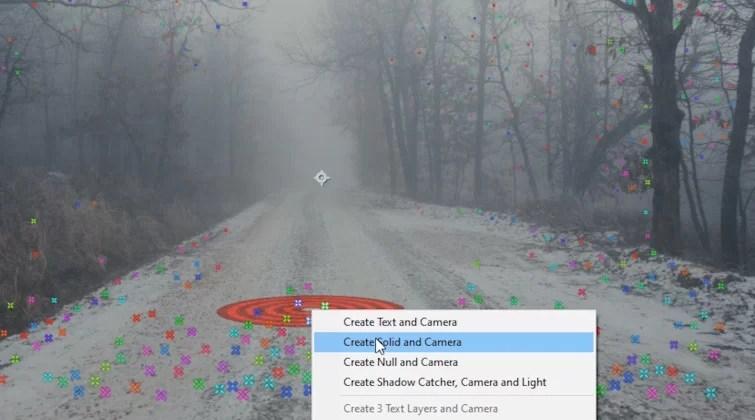 Transición del portal en After Effects: Camera Tracker