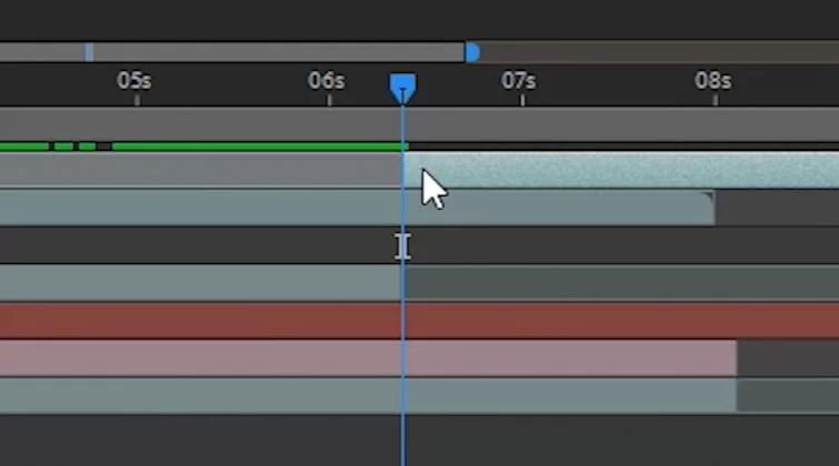 Transición del portal en After Effects: capa dividida