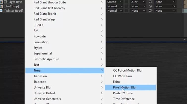 Transición del portal en After Effects - Pixel Motion Blur