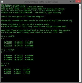 Octave 4.0.0 CLI