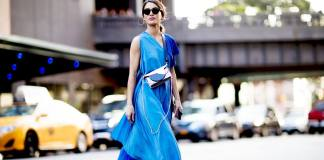 new-york-fashion-week-street-style-blue-dress-bag