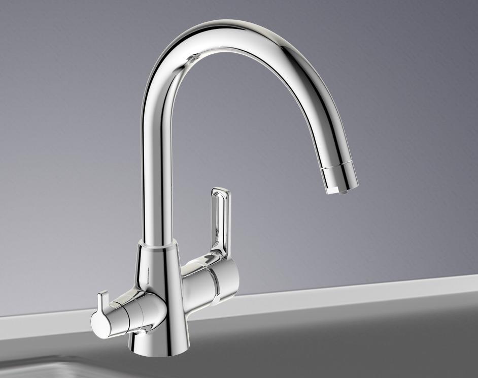 НОВИНКА! VIDIMA Uno Cмеситель  для кухни 2 в 1 с подключением фильтра очистки воды