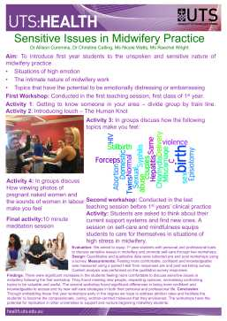 poster: Sensitive issues in midwifery practice