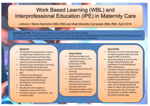 Poster: Work based learning (WBL) and interprofessional education (IPE) in maternity care
