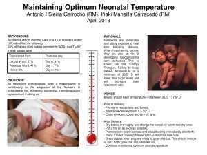 Poster: Maintaining optimum neonatal temperature