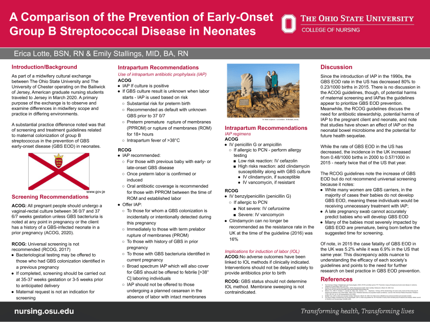 Poster: A Comparison of the Prevention of Early-Onset Group B Streptococcal Disease in Neonates