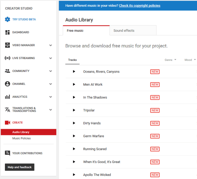 YouTube Audio | Where to find royalty-free music for your YouTube channel?