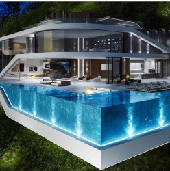 piscina piscinas vidro modelos pool modern luxo haus moderne casas luxury casa villa rund arquitetura ums houses lindas ideen homes