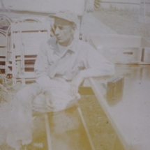 Photo in a faded condition