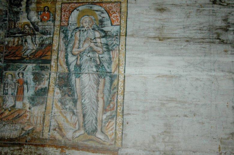 Недописанный фрагмент в церкви