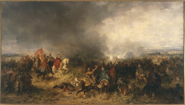 A battle at Khotyn in 1621.