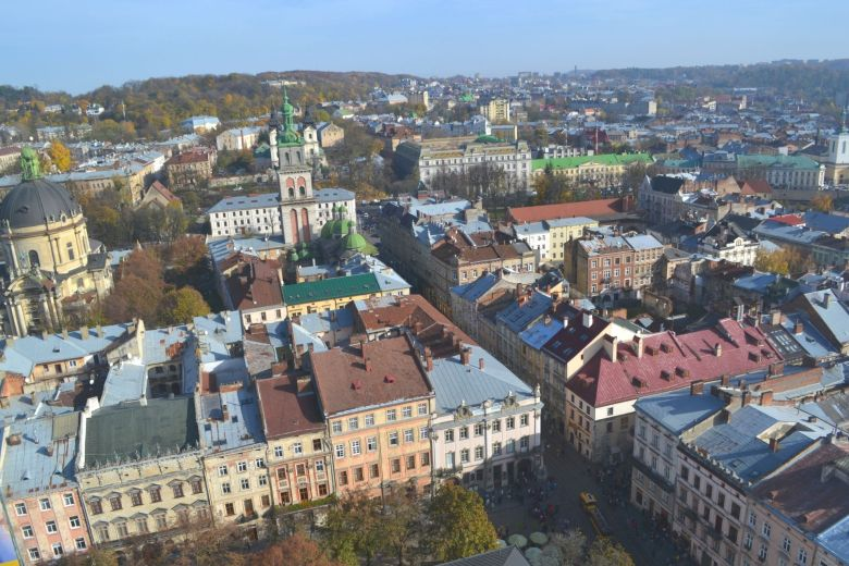 Lviv from a rooftop