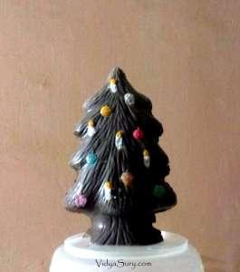 Chocolate Christmas Tree at home