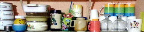 Kitchen shelf at home