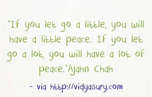 Let go and enjoy peace! Vidya Sury
