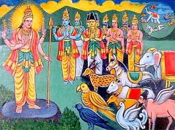 Iconography in Hinduism vahanas
