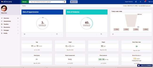 vidya sury ekincare health records