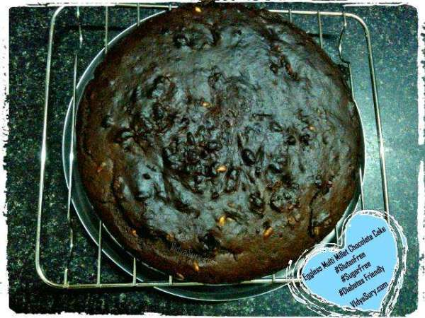 Eggless Multimillet Chocolate Cake Vidya Sury