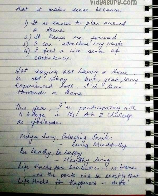 Vidya Sury A to Z Challenge 2016