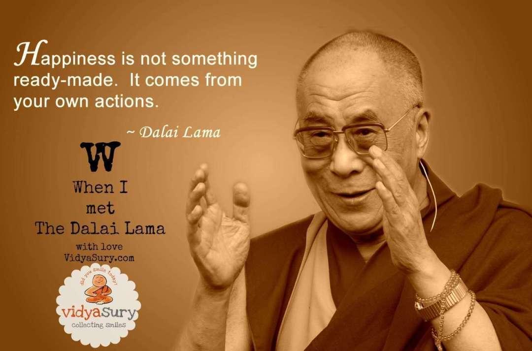 When I met The Dalai Lama Vidya Sury