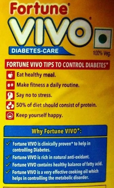 Vidya Sury Fortune Vivo Diabetes Care Oil 1