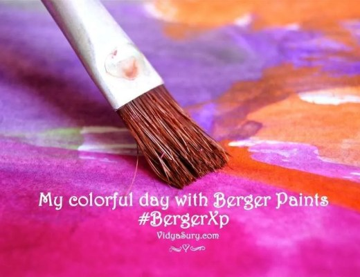 A colorful day with Berger Paints #BergerXP Vidya Sury