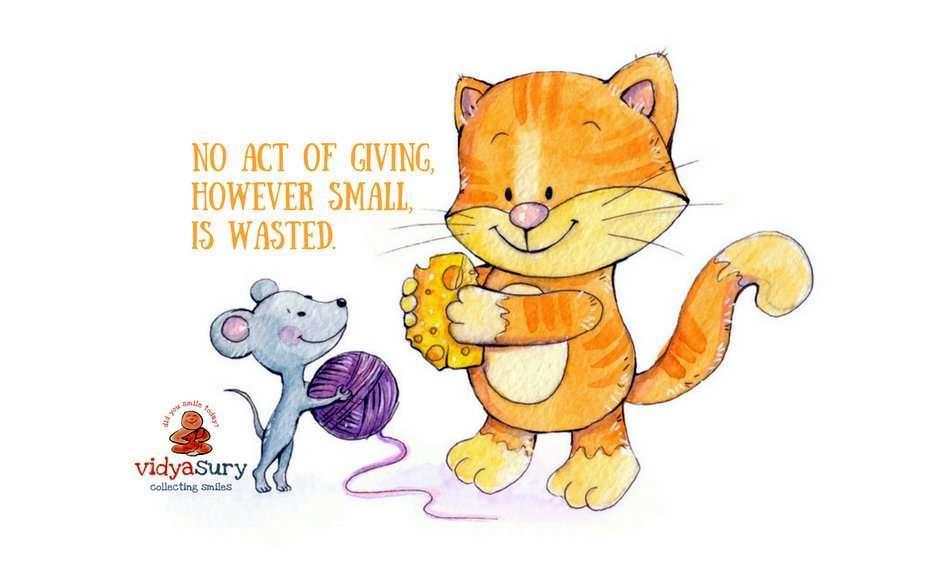 Giving is a gift Vidya Sury #AtoZChallenge #CollectingSmiles