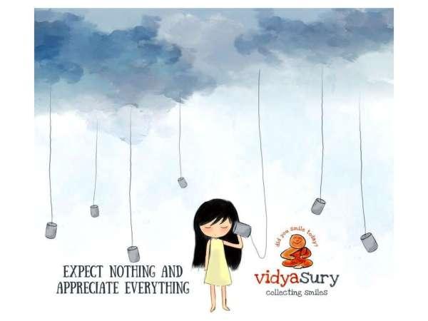 Gratitude Circle. Expect Nothing Appreciate Everything. Vidya Sury