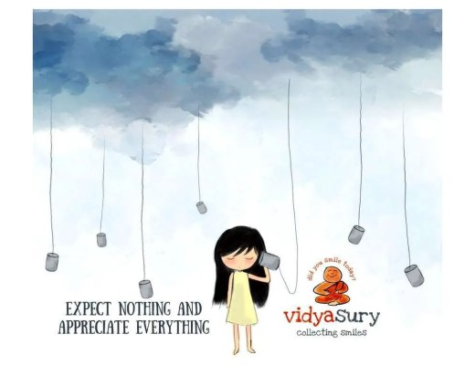 Gratitude Circle. Expect Nothing Appreciate Everything. Vidya Sury