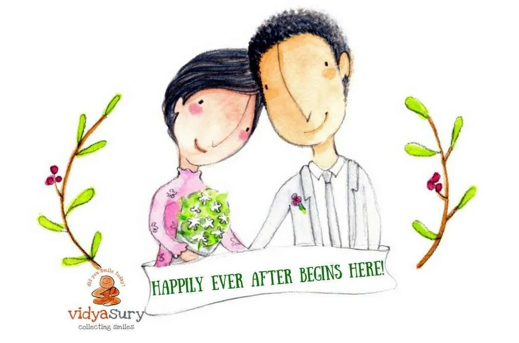 Happily Ever After Begins Here! OneWeddingWish Vidya Sury.png