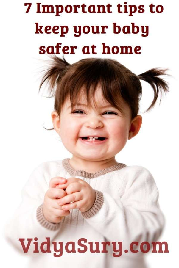 7 important tips to keep your baby safer at home. Babyproof your home today! #childsafety #parenting #safebaby