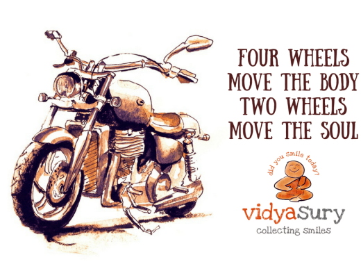 Commuting by motorcycle Vidya Sury