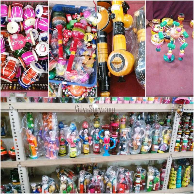 Toys at the showroom. Such variety! From my trip to Channapatna #OlaRental #toys #incredibleindia #travel