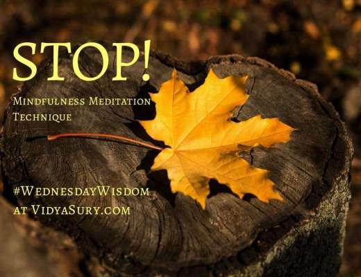 STOP mindfulness meditation technique #WednesdayWisdom #Mindfulness
