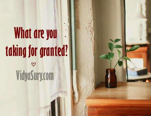 What do you take for granted #gratitude #mindfulness