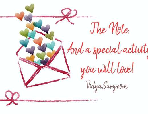 The Note and a special activity you will love Wednesday Wisdom