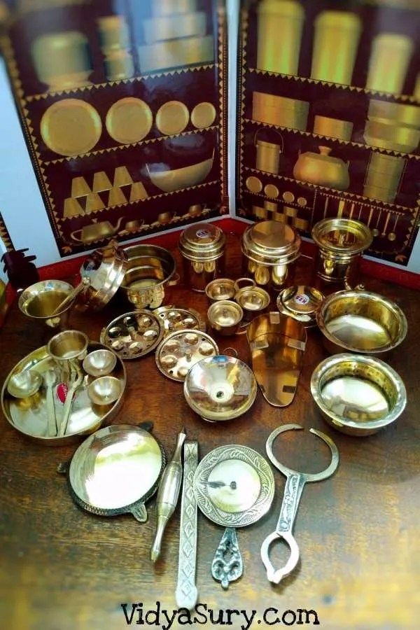 premium Brass kitchen set Desi toys #toys #childhood #play #parenting