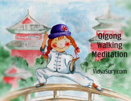 Qigong walking meditation for kids and grownups