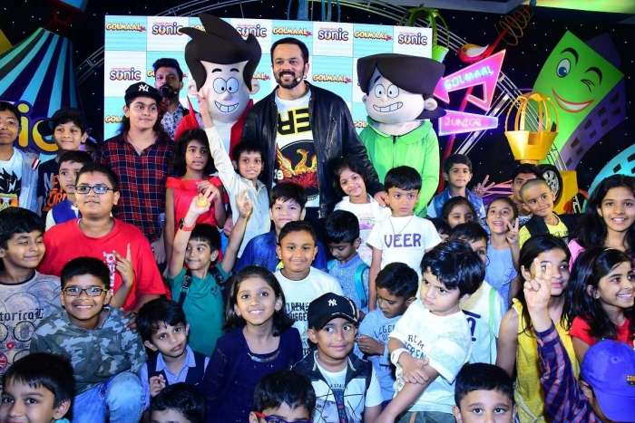 Kids having fun at Golmaal Jr Launch
