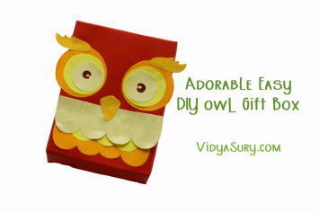 Adorable Easy DIY Owl gift box