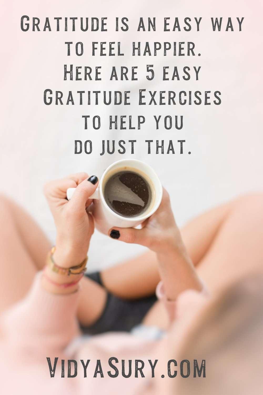 Easy Gratitude Exercises to feel happier