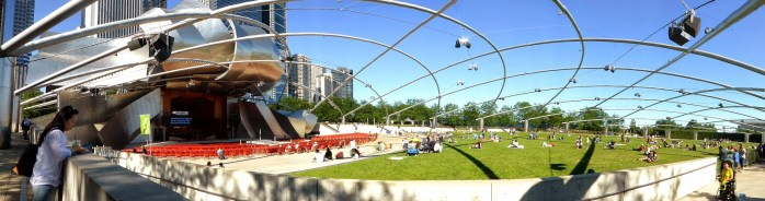 La scène de concert de musique classique en plein air