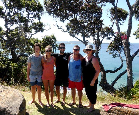 Whale bay avec kirk family-île du Nord
