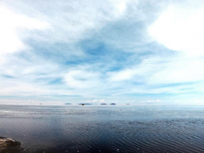 Salar d'Uyuni remplit d'eau-Bolivie
