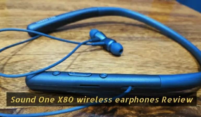 sound one X80 wireless earphones