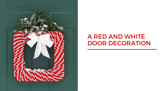 Red and White Christmas Tree Decoration Iddeas