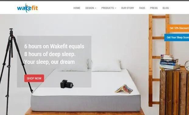 Wakefit Offerssleep intern