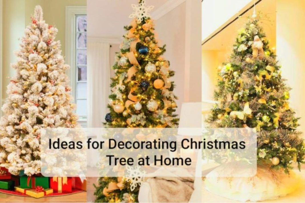 how to decorate christmas tree at home